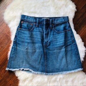 New Madewell  McCarren Denim Mini Skirt